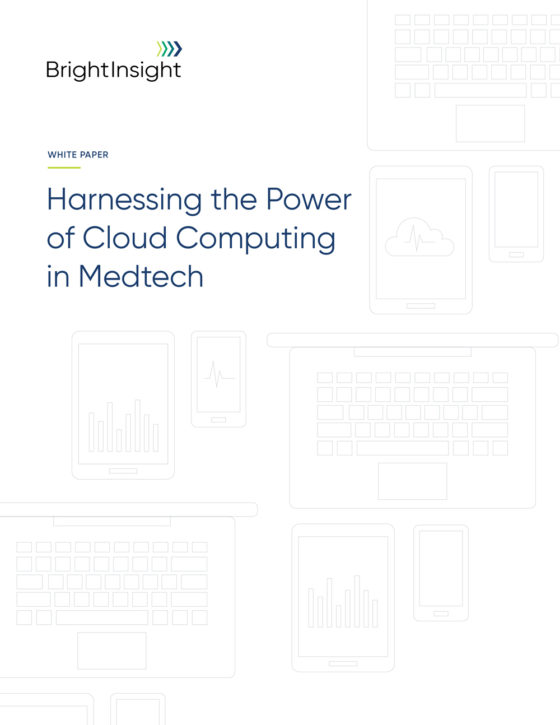 White paper harnessing the power of cloud computing in medtech