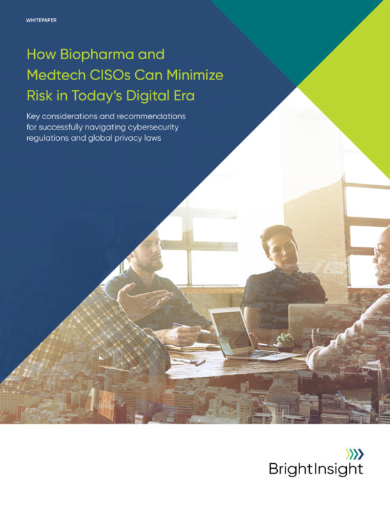 White papers how biopharma and medtech cisos can minimize risk in todays digital era 1565891101