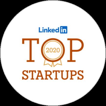 Award Linkedin top startups 2020