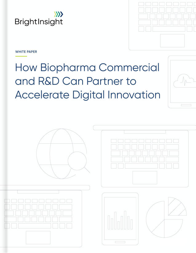 White paper how biopharma commercial and rd can partner to accelerate digital innovation pretty cover